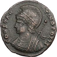 Constantine the Great Authentic Ancient Roman Coin Commeorating the Founding of Rome