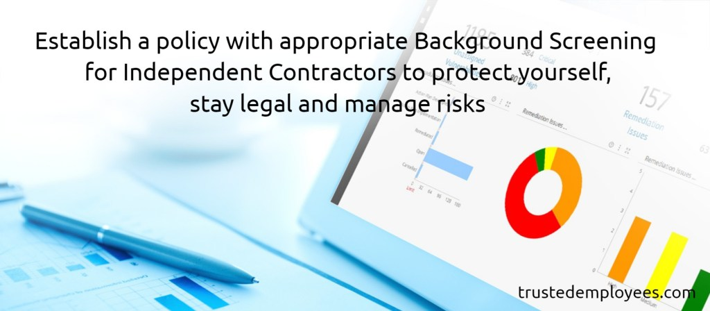 background screening for independent contractors