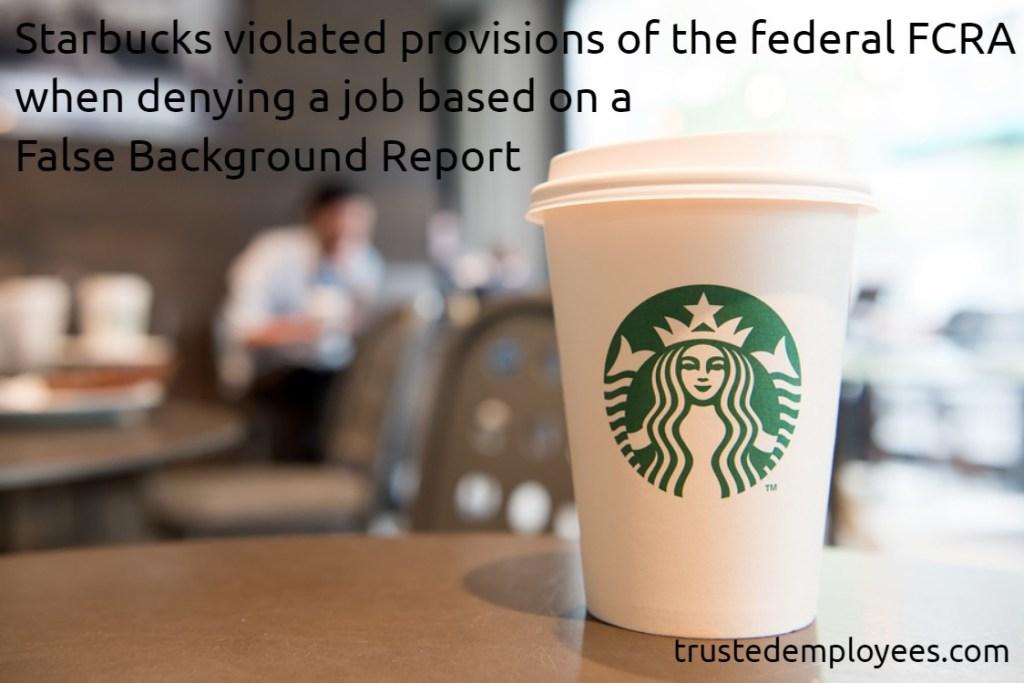 False Background Report