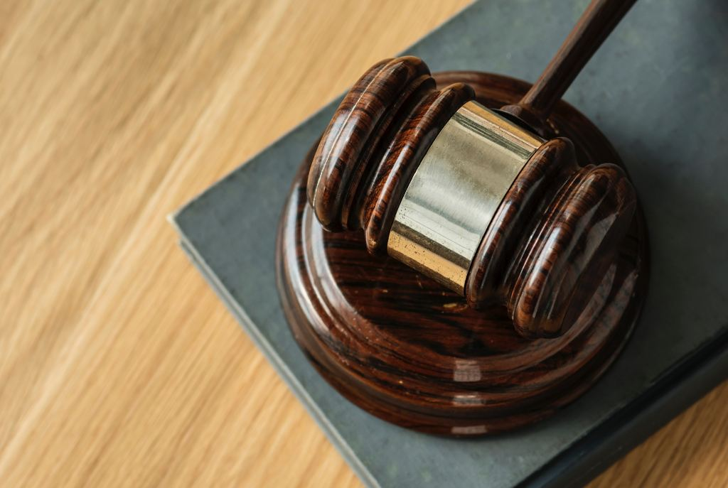 Gavel resting on its stand