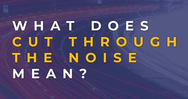 Cut Through The Noise