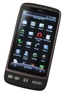 HTC Desire menu