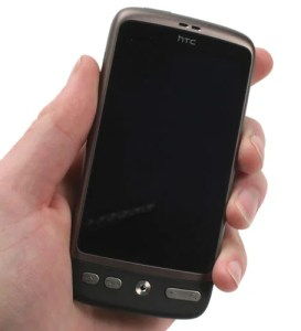HTC Desire in hand