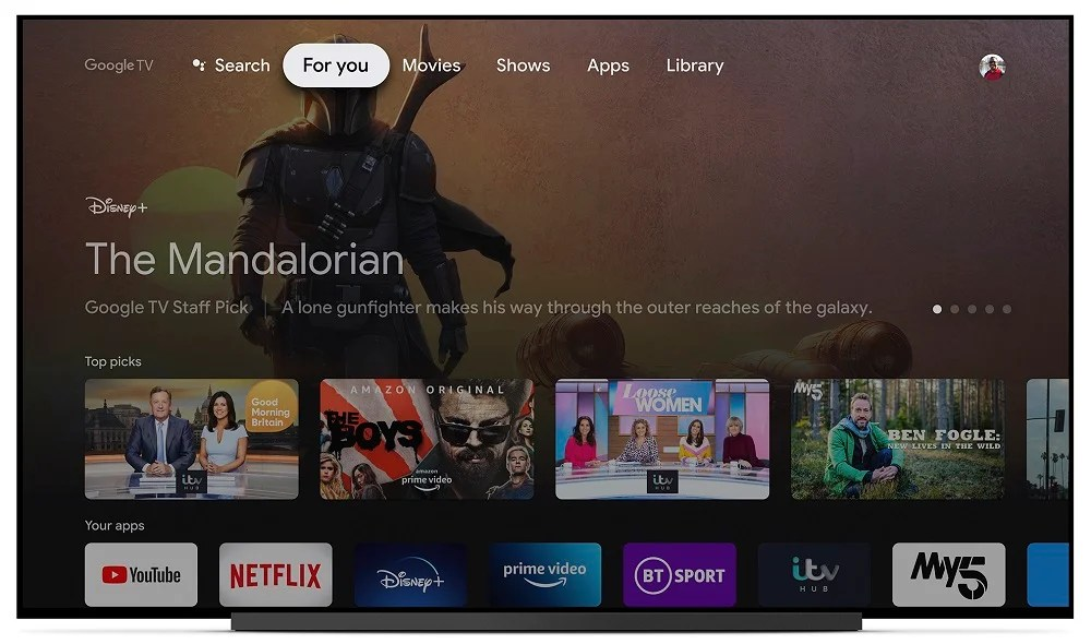 Google TV For You Tab Every 8K LED, 4K OLED and BRAVIA XR TV