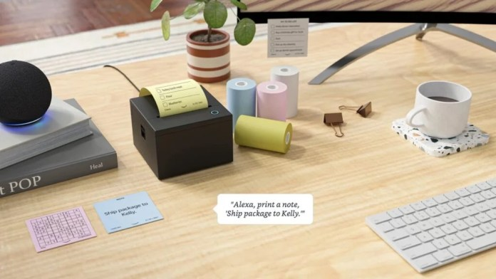 Alexa Smart Sticky Note printer
