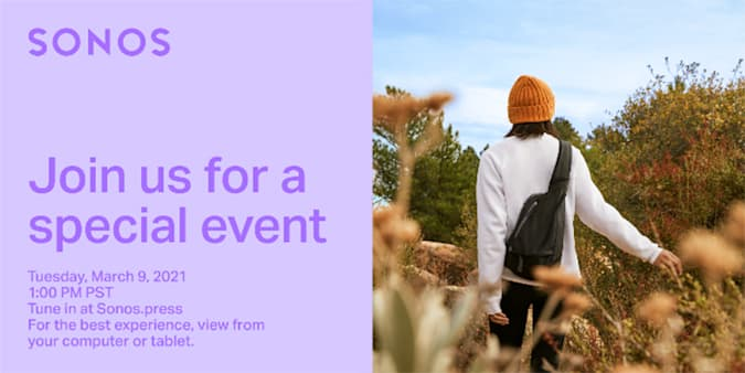 Sonos March 9 Event: Headphones? New outdoor speaker? Or both?