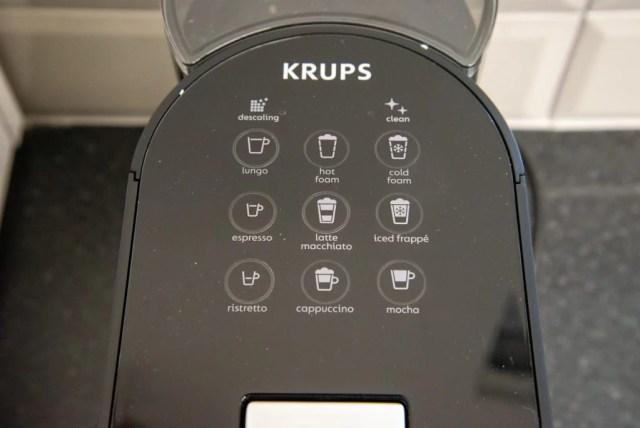 Nespresso Atelier controls