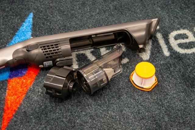 Shark WandVac System WS620 bin removed and filter
