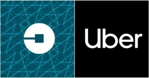 Old and New Uber logos