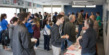 Students at the Pizza and Politics Event