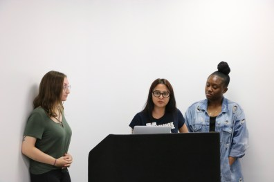 Members of the University Affairs Committee presenting proposals to the Board