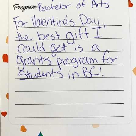 Grants Not Loans Valentines