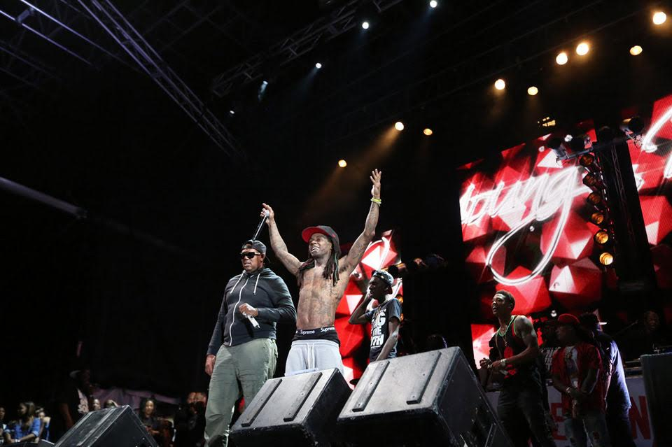 Lil Wayne and Master P Perform Live For The First Time Ever at the Lil Weezyana Fest.