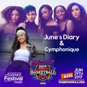 WOMEN COME OUT TO SING AT MASTER P'S CELEBRITY BASKETBALL GAME – JUNE'S DIARY & CYMPHONIQUE