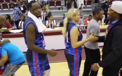 PERCY MILLER COACHES THE NEW ORLEANS GATORS TO A VICTORY OVER THE WASHINGTON FUSION