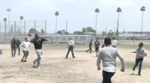 Master P plays ball with the only all boys high school in LA