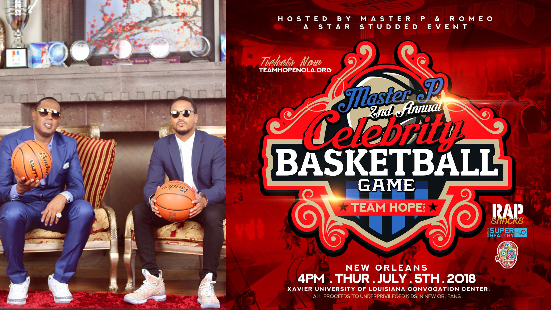 MASTER P AND ROMEO STAR STUDDED 2ND CELEBRITY BASKETBALL GAME JULY 5th
