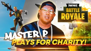 "Master P plays ""Fortnite""for Charity"