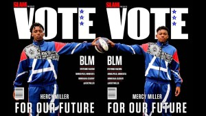 Hercy and Mercy Miller Highschool Basketball Stars encourage People to Vote.