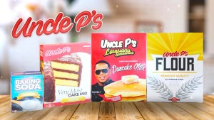 MASTER P ADDS FLOUR, BAKING SODA AND CAKE MIX TO UNCLE P FOOD PRODUCTS
