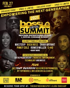 EVENT: BossUp Summit WITH MASTER P AND MORE.