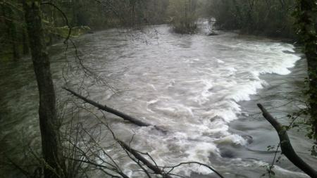 Caudal do Rio Coura em 1 de Março de 2014