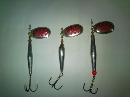Colheres Mepps com chumbo - fabrico artesanal - Caça e Pesca Monção