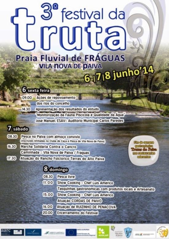 Festival da truta Vila Nova de Paiva 2014 - Cartaz