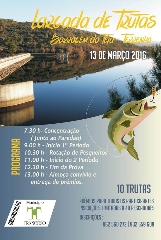 Largada de Trutas - Barragem da Teja Março 2016