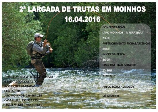 Largada de trutas Moinhos - Paços de Ferreira Abril 2016 - poster