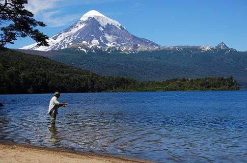 Pesca à truta na Patagónia