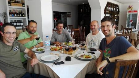 Pescadores no Restaurante Dias Pisões Julho 2016