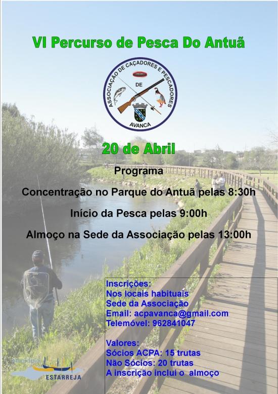 Programa do sexto percurso de pesca Rio Antuã 2013