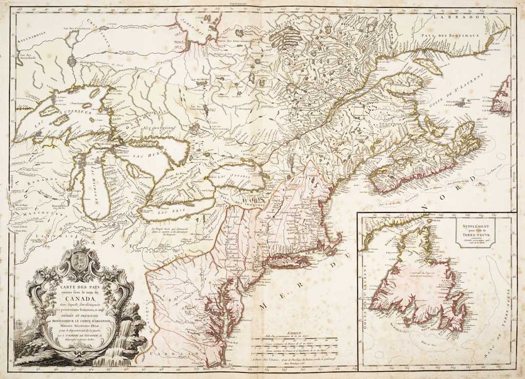 Canadian map from 1753