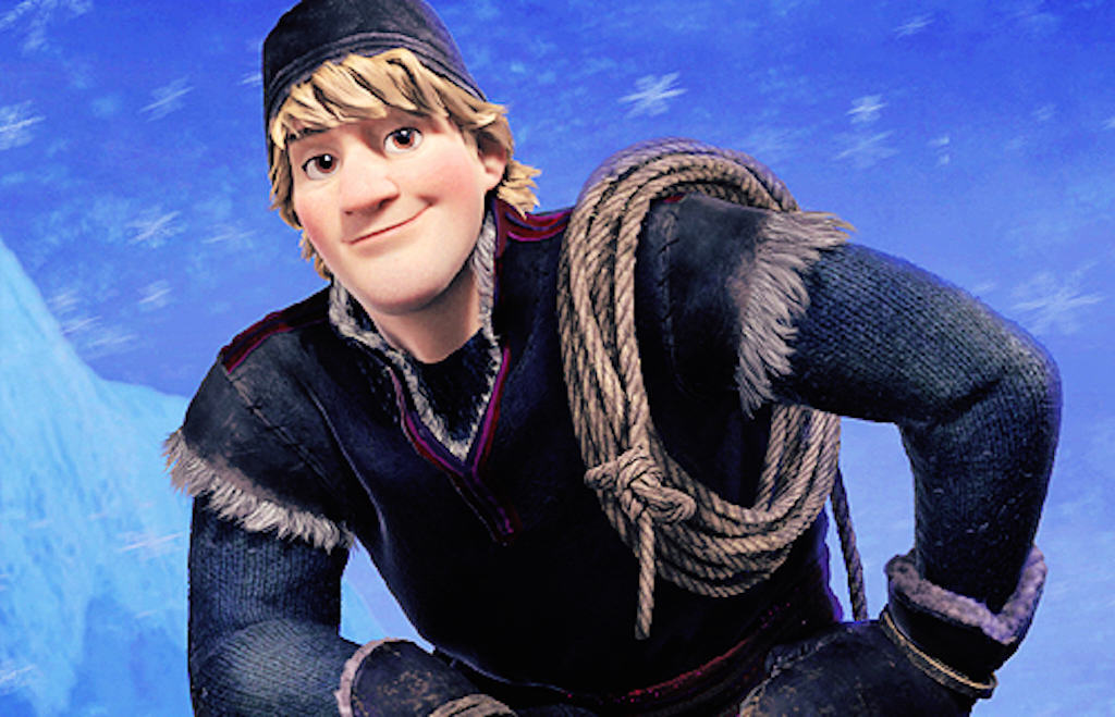 Frozen's Kristoff in cartoon fur
