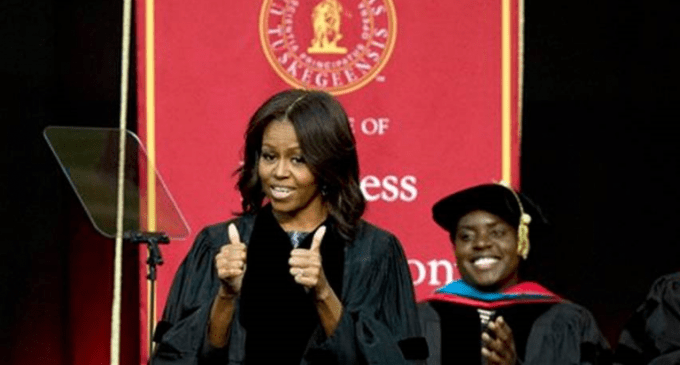 Michelle Obama Goes On Anti-White Rant at Tuskegee Commencement