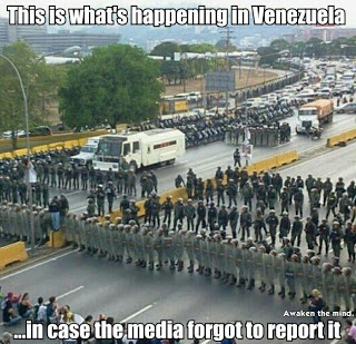 Venezuela Accuses U.S. of Plotting Coup After Deadly Post-Election Protests - This is what's happening in Venezuela in case the media forgot to report it