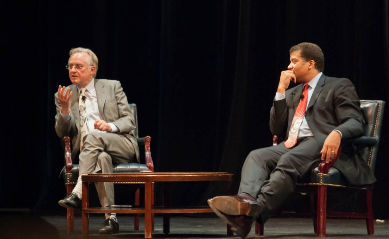 Neil_deGrasse_Tyson_and_Richard_Dawkins_at_Howard_University_(2)_-_September_28,_2010