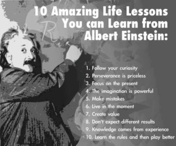10 amazing lessons from albert einstein