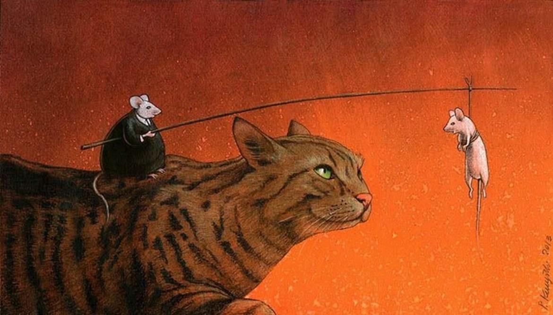 Pawel Kuczynski cat and mice