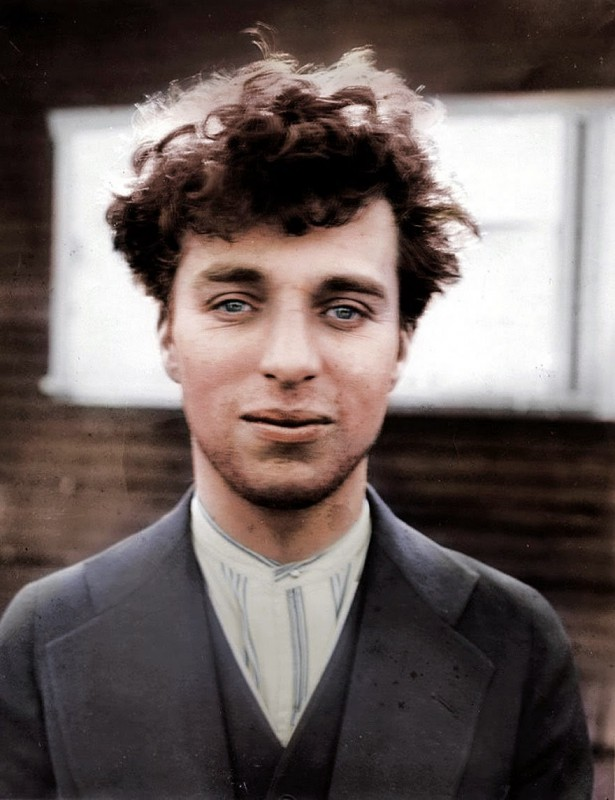 Charlie Chaplin when he was 27, 1916.