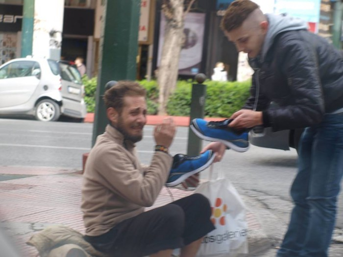 Meanwhile in the streets of athens, faith in humanity restored