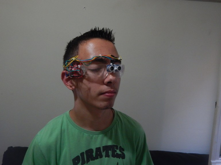 P.E.ACE project 17 years old Aggelos Getsis creates glasses for blind people