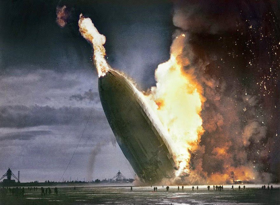 The destruction of the Hindenburg, May 6, 1937