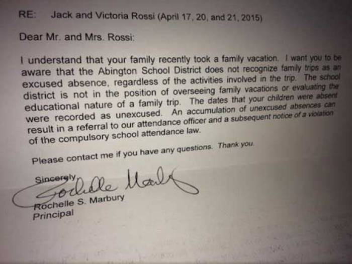 Father's Amazing Response To School About Kids' Absence