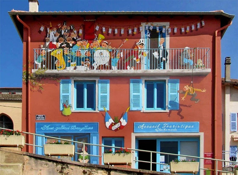 Artist from France paints colourful neighborhoods in cheerless walls.2