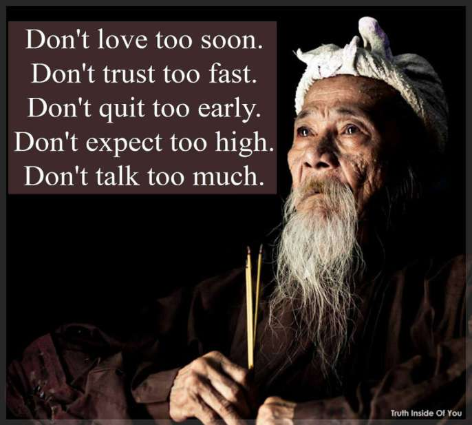 Don't talk too much.