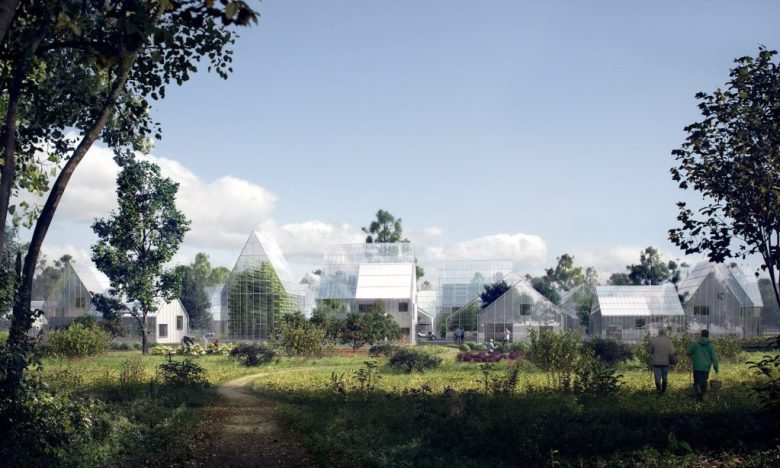 The neighborhood that will produce its own food, energy and will recycle waste. (6)