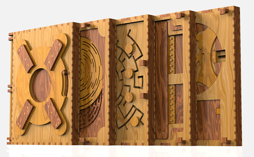 Incredible Wooden Book Is a Series of Puzzles That Have to Be Solved to Continue Reading.-2