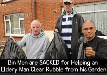 Bin Men are SACKED for Helping an Eldery Man Clear Rubble from his Garden